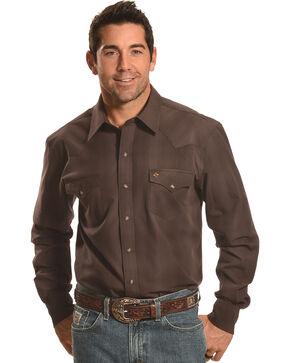 Garth Brooks Sevens by Cinch Plaid Western Shirt, Brown, hi-res