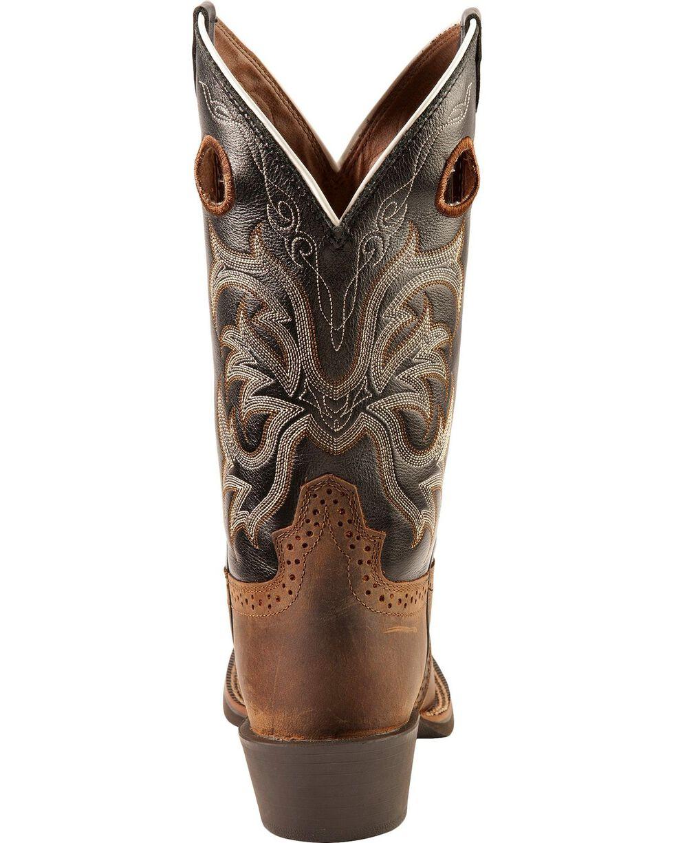 Justin Men's Stampede Punchy Western Boots, Tan Distressed, hi-res