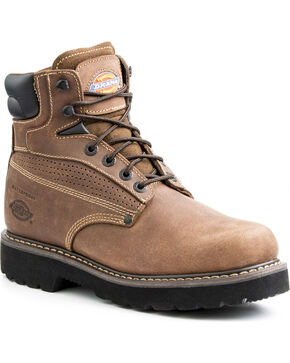 Dickies Men's Breaker Steel Toe Waterproof Boots, Brown, hi-res