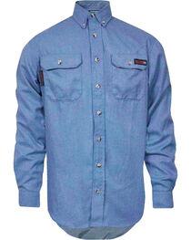 Tecgen Men's Long Sleeve Flame Resistant Industrial Work Shirt, , hi-res