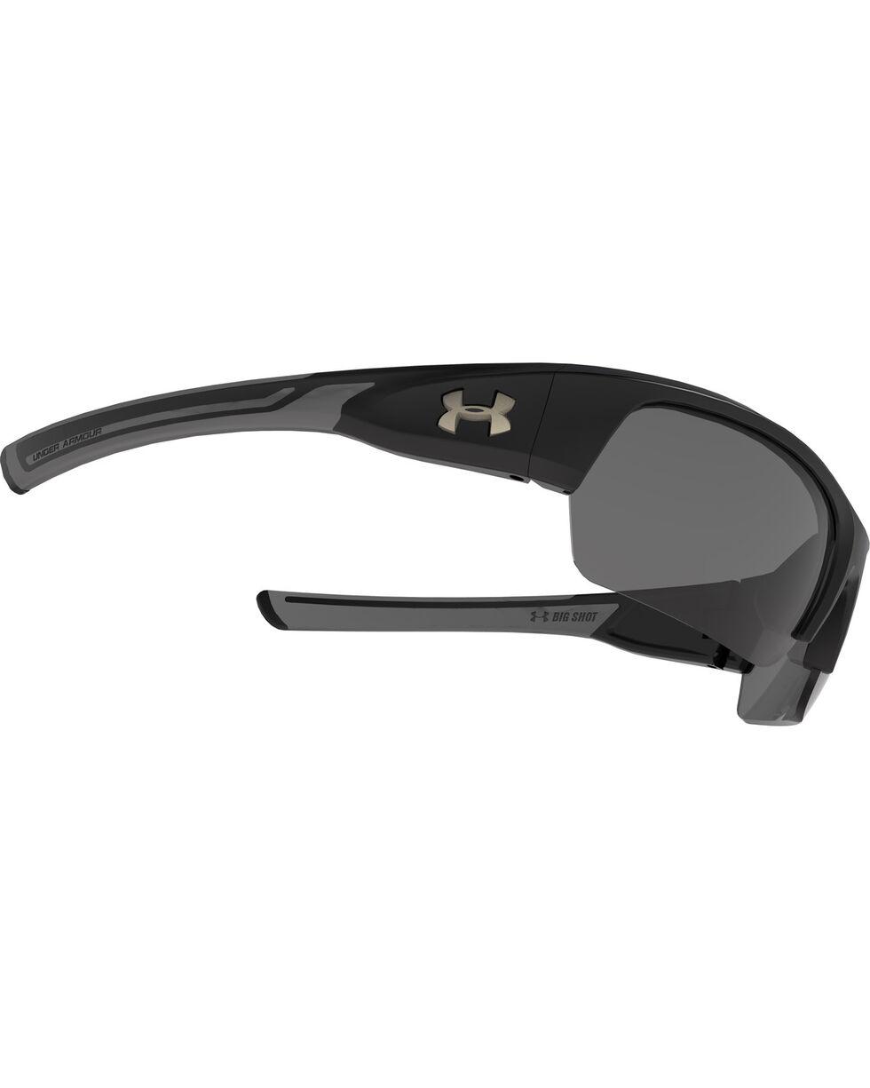 Under Armour Men's Black UA Big Shot Storm Polarized Sunglasses , Black, hi-res