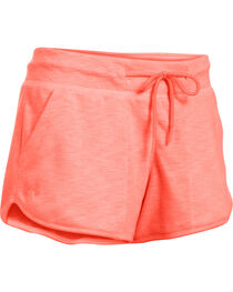 Under Armour Women's Orange Ocean Shoreline Terry Shorts, , hi-res