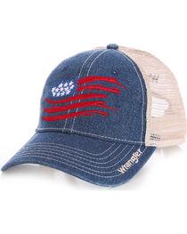 Wrangler Men's Mesh Back Flag Cap, , hi-res