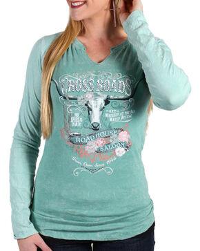 Panhandle Women's Crossroads Shirt, Sage, hi-res