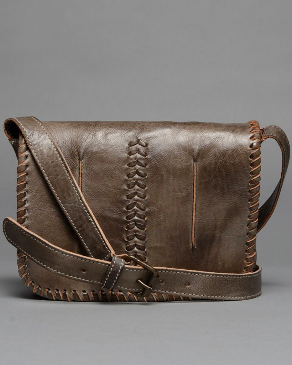 Bed Stu Women's Frankie Taupe Crossbody Bag , Dark Brown, hi-res