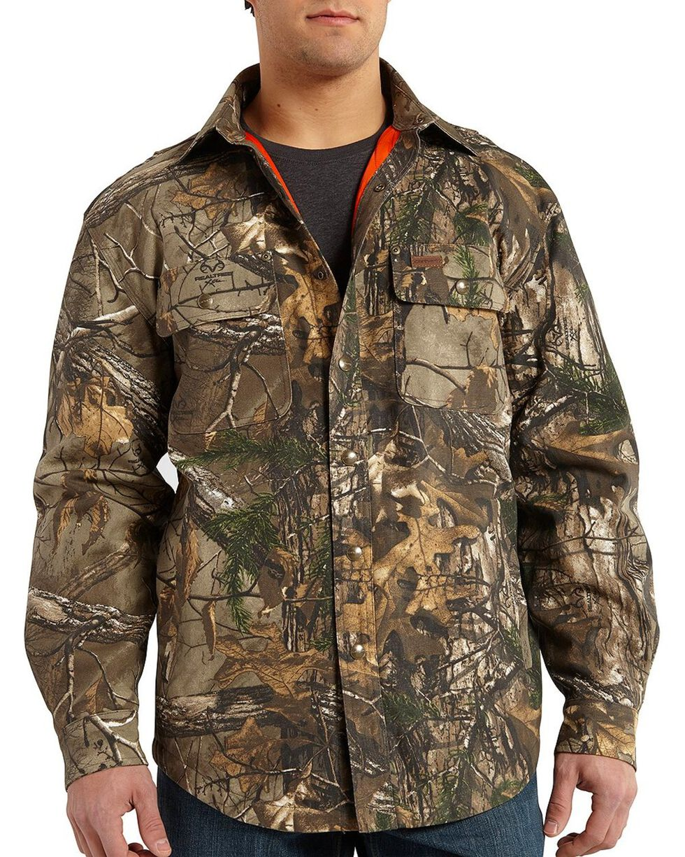Carhartt Men's Wexford Camo Shirt Jacket - Big & Tall, Camouflage, hi-res