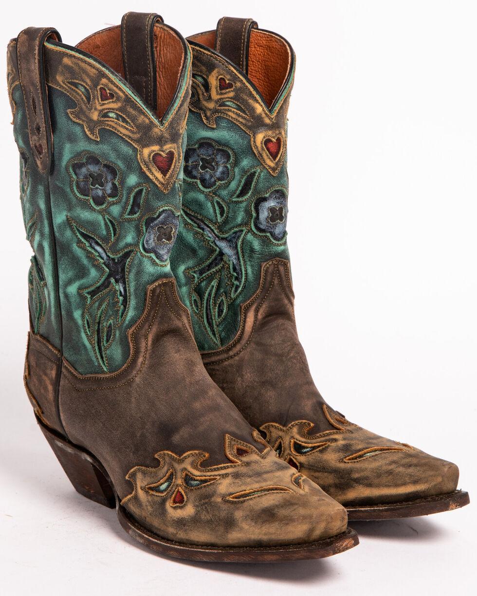 Dan Post Women's Vintage Blue Bird Snip Toe Western Boots, Copper, hi-res
