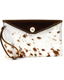 SouthLife Supply Women's Paxton Cowhide Envelope Clutch, , hi-res