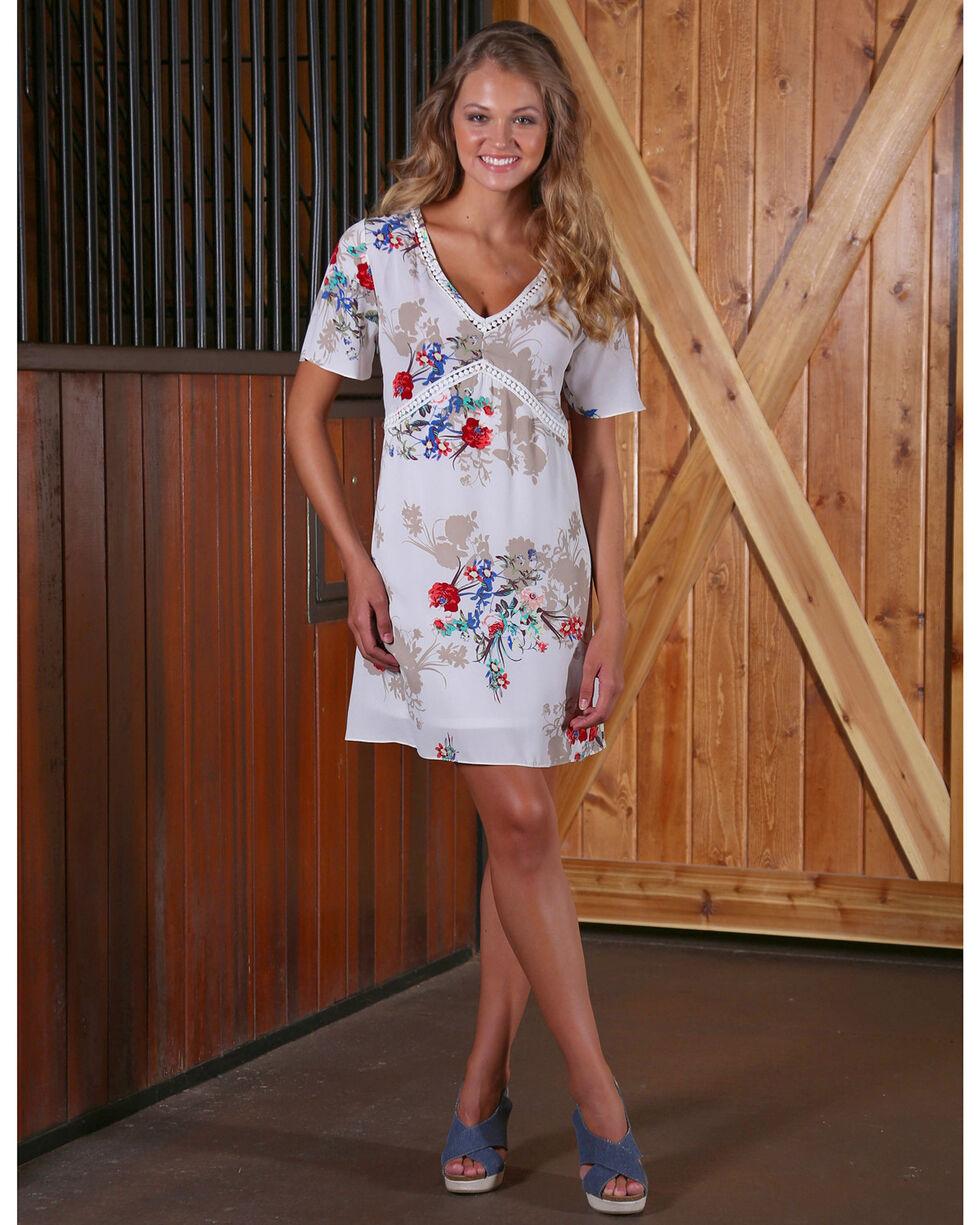 Wrangler Women's Western Floral Fashion Dress, Multi, hi-res