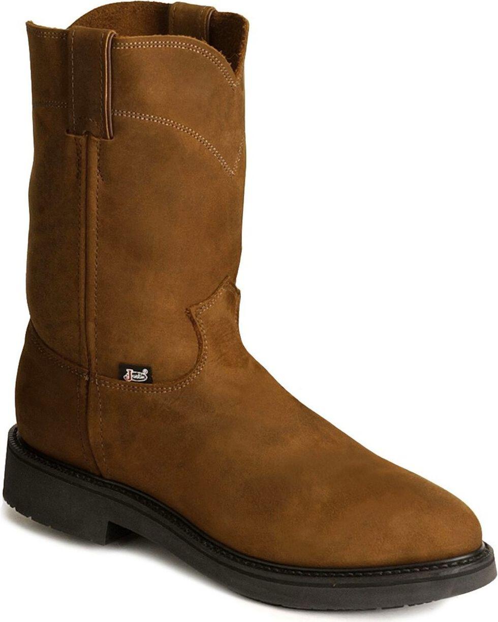 Justin Men's Work Boots, Brown, hi-res