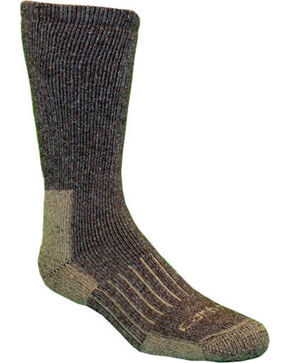 Carhartt Brown Full-Cushion Recycled Wool Crew Socks, Brown, hi-res