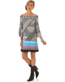 Wrangler Women's Multi Flutter Sleeve Print Dress, , hi-res