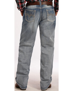 Rock & Roll Cowboy Men's Tuf Cooper Performance Straight Leg Jeans, Denim, hi-res