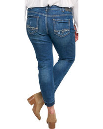 Silver Women's Indigo Dark Wash Sam Boyfriend Jeans - Plus, , hi-res