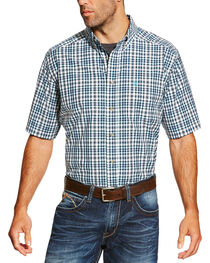 Ariat Men's Navy Izzy Shirt Short Sleeve Shirt - Big and Tall, , hi-res