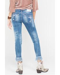 Grace in LA Frayed Hem Destructed Jeans - Skinny , , hi-res