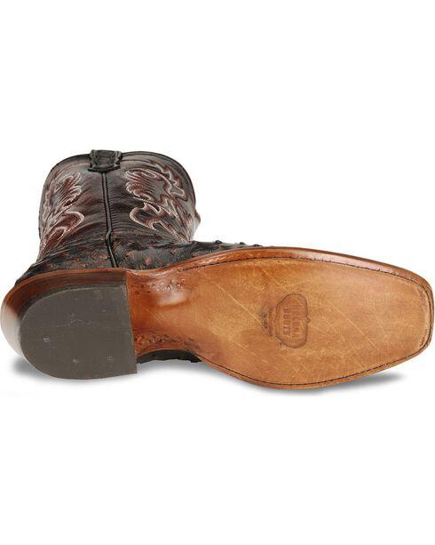 Nocona Men's Full Quill Ostrich Western Boots, Black Cherry, hi-res