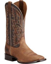 Ariat Men's Ranchero Rebound Brown Cowboy Boots - Square Toe, , hi-res