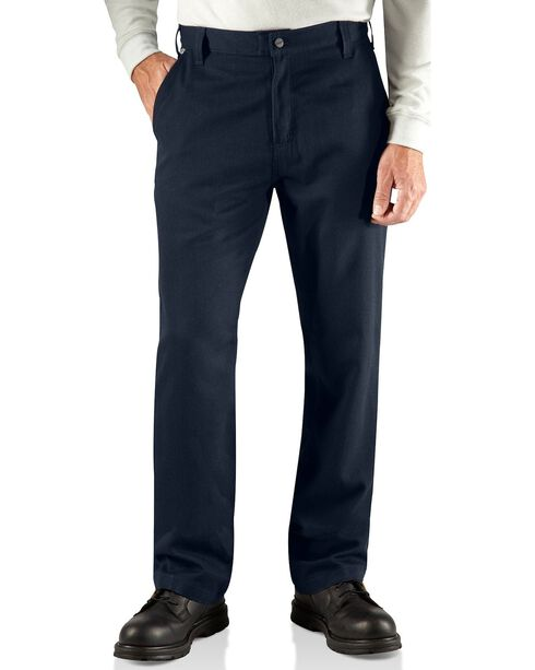 Carhartt Men's Flame Resistant Work Pants, Navy, hi-res
