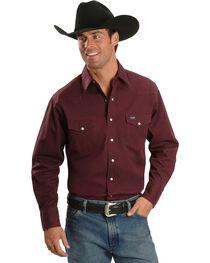 Wrangler Men's Cowboy Cut Work Western Shirts, , hi-res