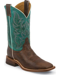 Justin Men's Square Toe Western Boots, , hi-res