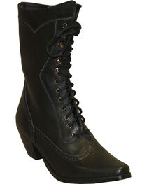 "Rawhide by Abilene Women's 8"" Victorian Lace Up Boots - Snip Toe, , hi-res"