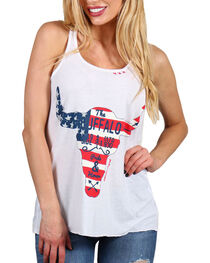 Bohemian Cowgirl Women's Pride and Honor Tank, White, hi-res