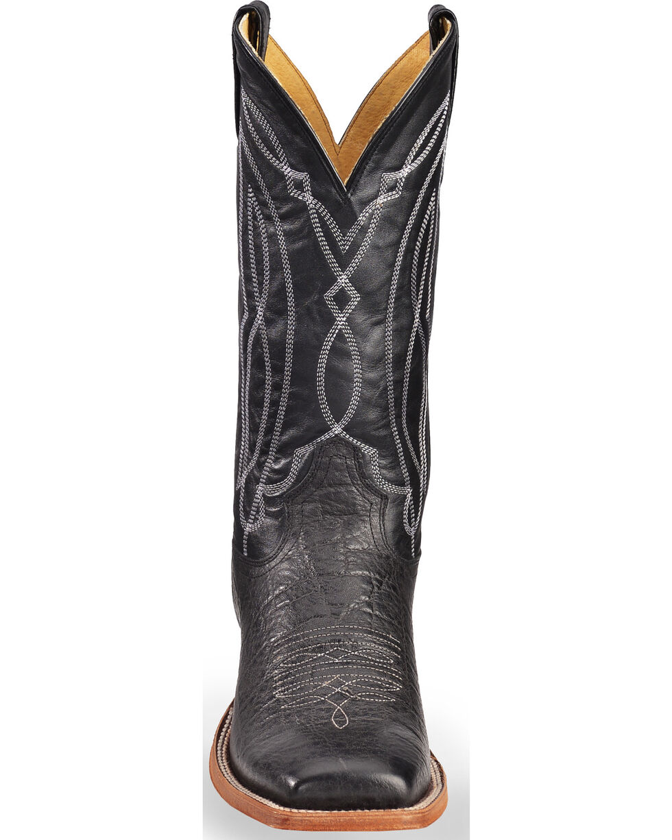 Tony Lama Men's Square Toe Western Boots, Black, hi-res