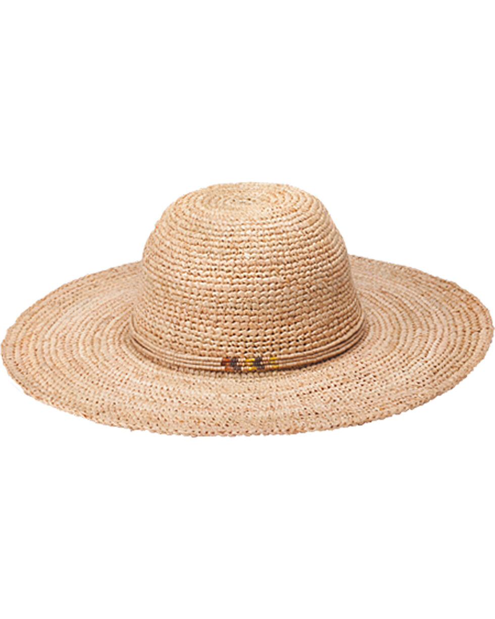 "Peter Grimm Beach Getaway 4 1/2"" Natural Raffia Straw Sun Hat, Natural, hi-res"