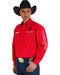 Wrangler Men's Red Pendleton Western Logo Shirt , , hi-res