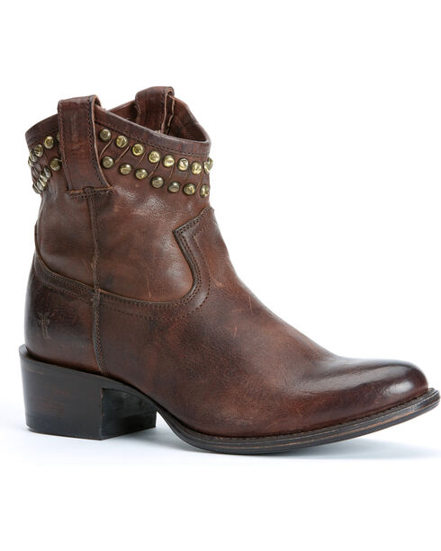 Frye Diana Cut Stud Short Boots, Dark Brown, hi-res