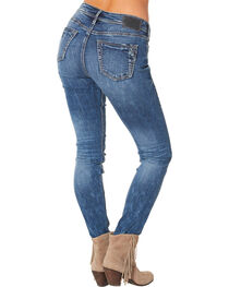 Silver Women's Suki High Super Skinny Dark Wash Jeans , , hi-res