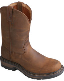 Twisted X Saddle Brown Lite Cowboy Work Boots - Soft Round Toe, , hi-res