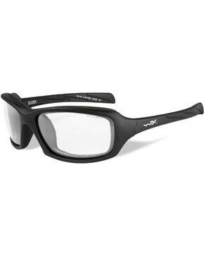 Wiley X Sleek Clear Matte Black Protective Sunglasses, Black, hi-res