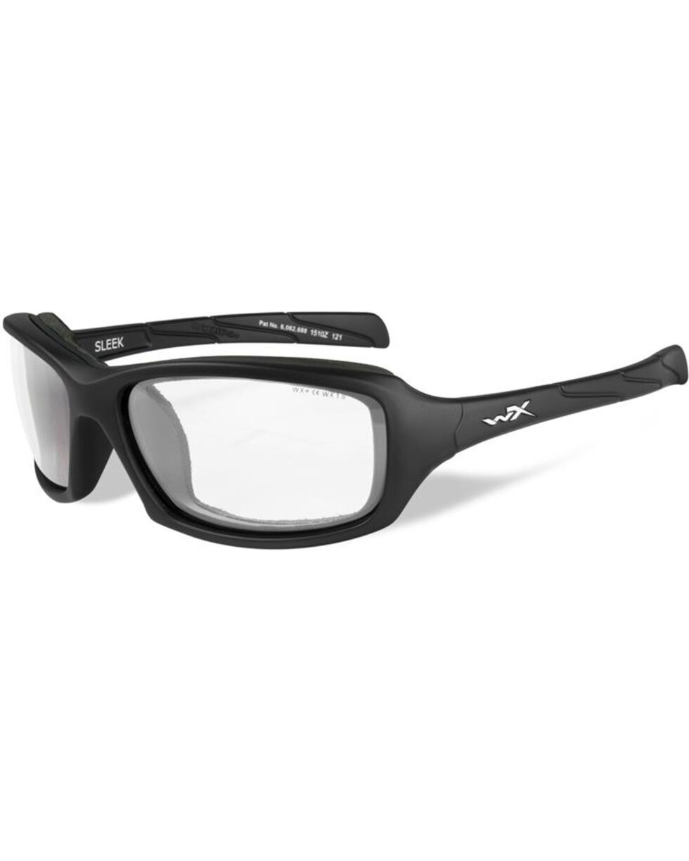 Wiley X Sleek Clear Matte Black Protective Sunglasses, Black, hi-res
