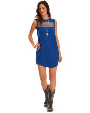 Angel Ranch Women's Blue Picnic Dress , Blue, hi-res