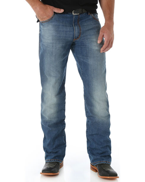 Wrangler Retro Men's Slim Fit Boot Cut Jeans - Long, Blue, hi-res