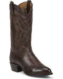 Tony Lama Men's El Paso Jersey Calf Western Boots, Chocolate, hi-res