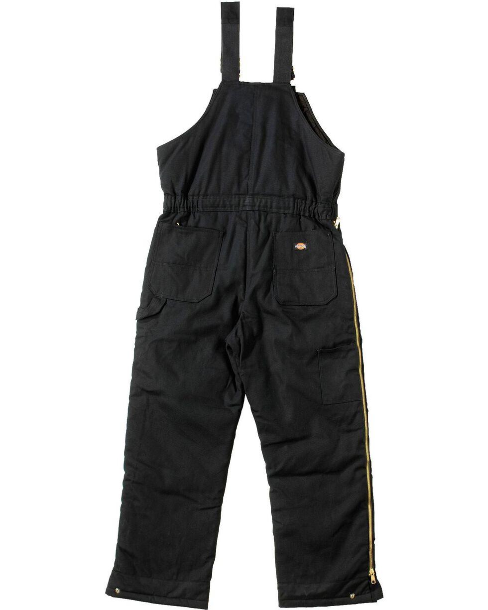Dickies Duck Insulated Bib Overalls, Black, hi-res