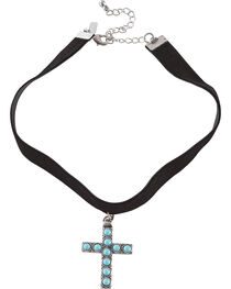 Shyanne® Women's Turquoise Cross Choker, , hi-res