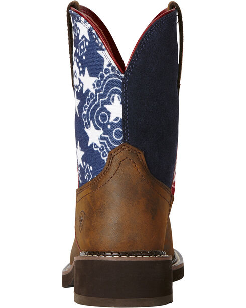 Ariat Women's Fatbaby Old Glory Heritage Western Boots, Brown, hi-res