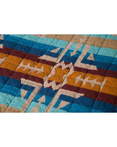 Carstens Southwest Harvest Queen Quilt, Blue, hi-res