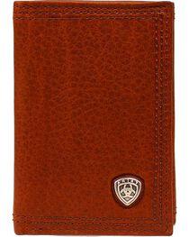 Ariat Men's Tri-Fold Leather Wallet, , hi-res