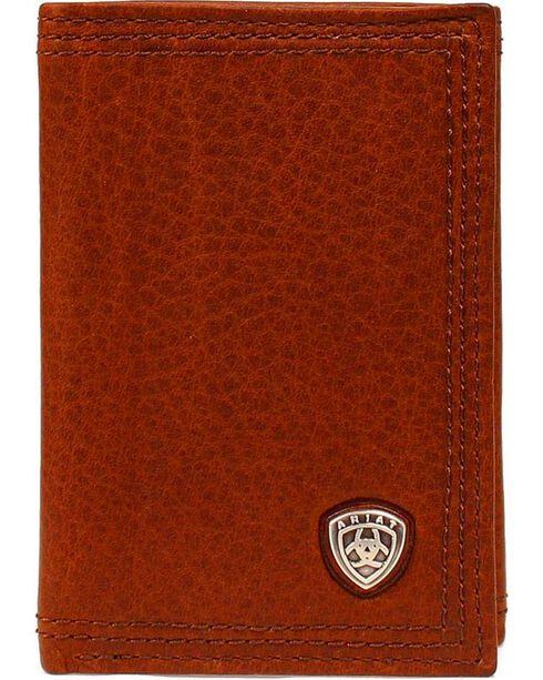 Ariat Men's Tri-Fold Leather Wallet, Sunshine, hi-res