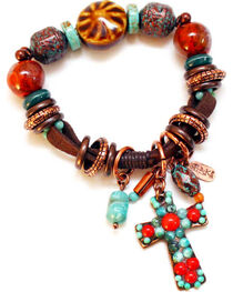 Treska Women's Santa Fe Beaded Bracelet with Fob , , hi-res