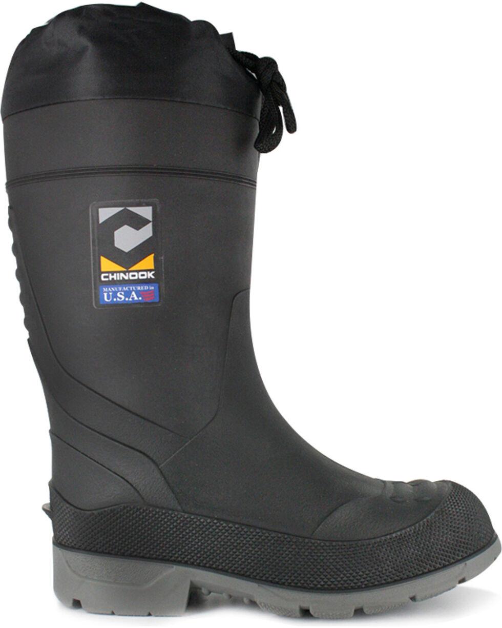 Chinook Men's BadAxe Waterproof Steel Toe Work Boots, Black, hi-res