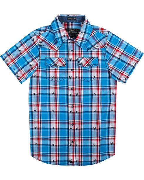 Cody James® Boys'  Bushwacker Short Sleeve Shirt, Royal Blue, hi-res