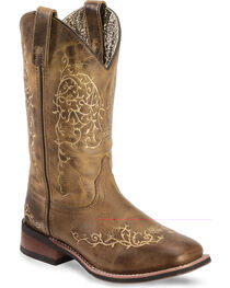 Laredo Women's Cowboy Approved Embroidered Western Boots, , hi-res