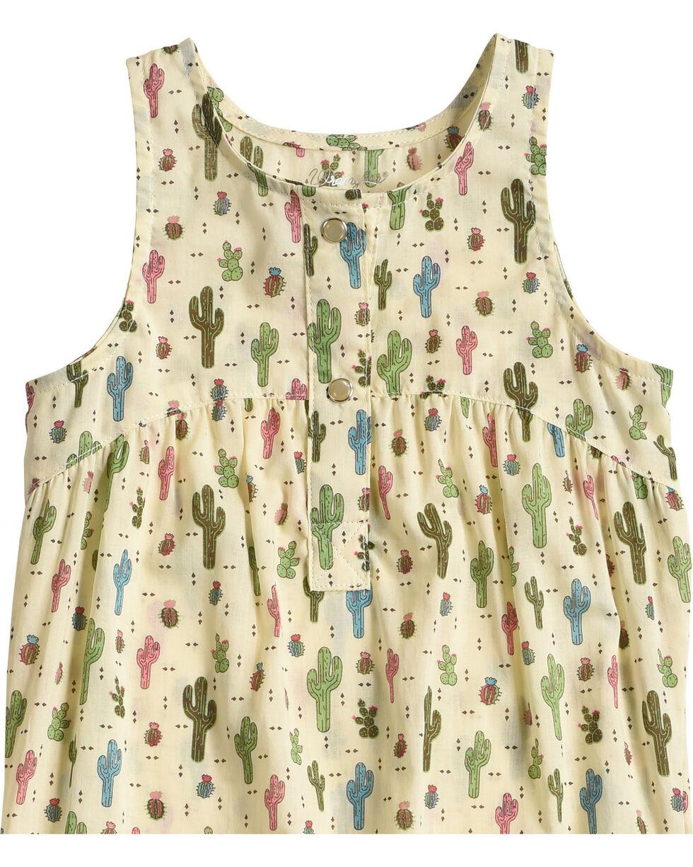 Wrangler Infant Girls' Cactus Print Sleeveless Romper , Natural, hi-res