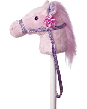 Aurora Girls' Pink Fantasy Stick Pony , Pink, hi-res